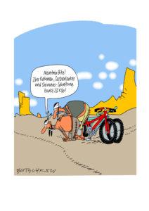 Indianer auf dem Mountain Bike-Pfad